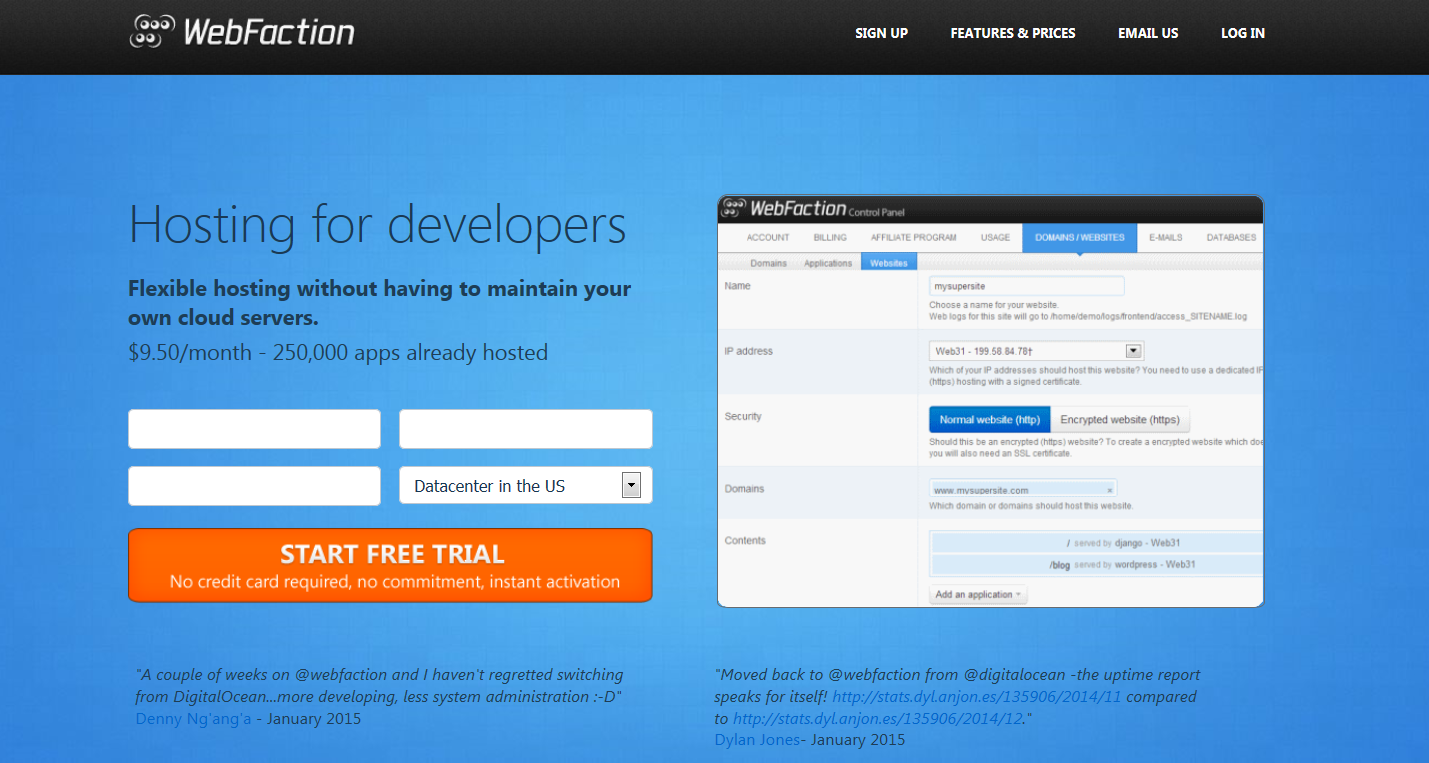 webfaction-homepage